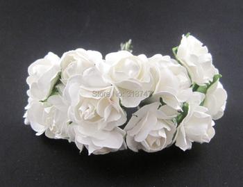 Mulberry Бумаги Розы Букет/провод стволовых свадебный цветок D027020001