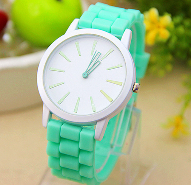 11 colors New Fashion GENEVA Watches silicone watches For Women Dress Watches Quartz Watches 1pcs/lot