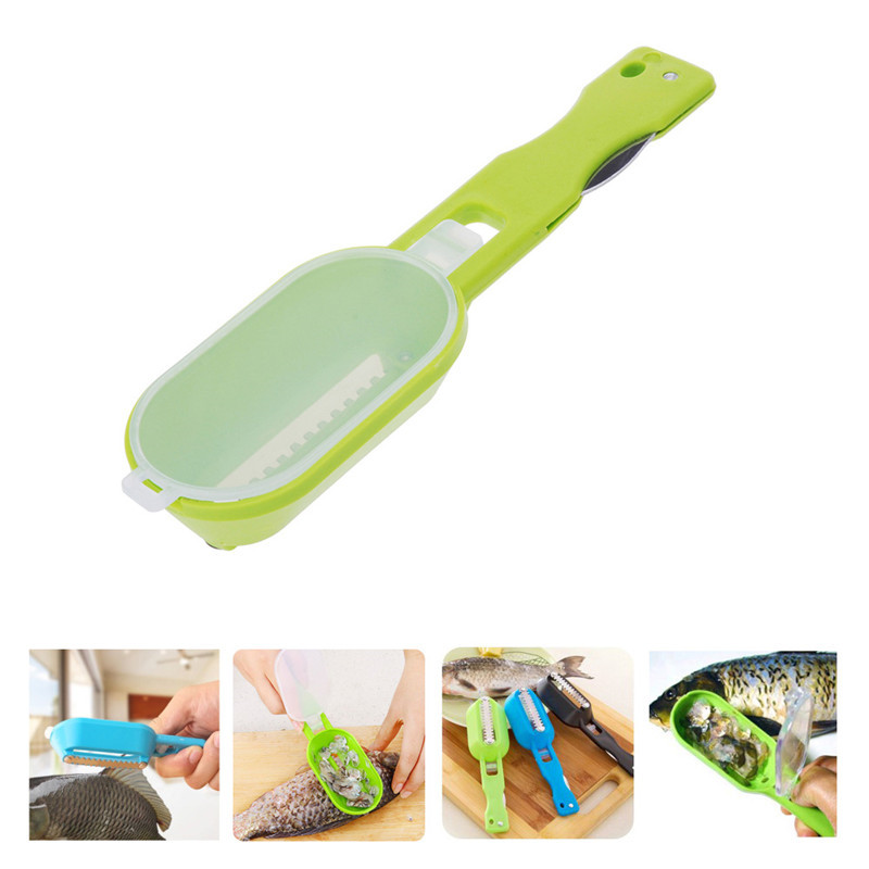 Cooking Tools Kitchen Accessories Gadgets Practical Fish Scaler Scale Scraper Clam Opener for Cleaning Scraping Fish(China (Mainland))
