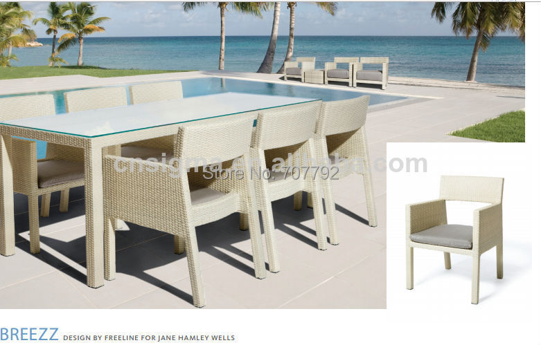 2015 hot sale elegant outdoor furniture set dining table for Outdoor table and chair set sale