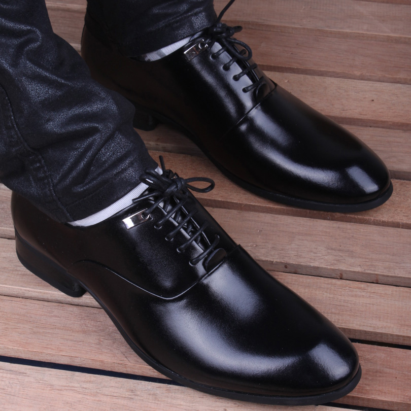 s genuine leather shoes pointed toe casual shoes