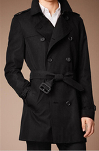Luxurious European style Male Classic Double-breasted Trench Coat England Business Men Fashion Windbreaker Free Shipping M-XXXL(China (Mainland))