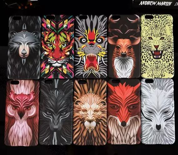 Newest designer animal leopard tiger print case cell phone protector for iphone 6 6s plus(China (Mainland))