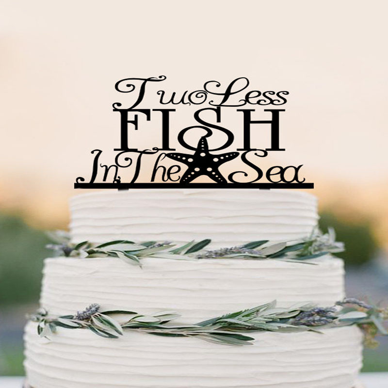 Two Less Fish In The Sea Cake Topper