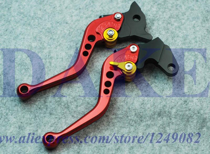 Short size CNC brake clutch levers SUZUKI GSX600 GSX 600 1998-2006 1999 2000 2001 2002 2003 2004 2005 8-colors One Pair - DAKE store