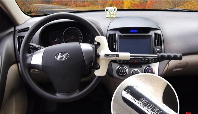 Free shipping Car lock  steering wheel lock high quanlity van anti-theft lock T form lock Wholesale + Retail car accessory
