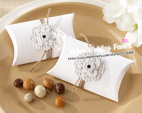 Free shipping Love Letter Flowering Pillow Favor Box edding Pillow Shape Candy Boxes,Wedding Favor Box, Party Gift Box(China (Mainland))