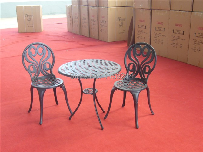A table and two chairs Garden furniture BRONZE Outdoor balcony Cast aluminum three piece suit   Villa terrace<br><br>Aliexpress