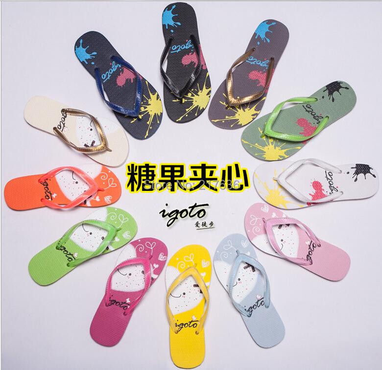 12 colors 2015 unisex Fashion colorful summer cool bathroom pantshoes slippers antiskid men's women's flip-flops - Scorpio yang's store