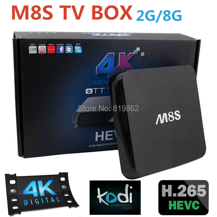 Best M8S Android TV Box Amlogic S812 Quad Core GPU Mali450 2G/8G Kodi/XBMC Media Player H. 265 4K 2.4G/5G Dual WiFi M8 Upgrade(China (Mainland))