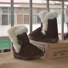 2015 New Child snow boots Kids warm plush snow boots boys girls shoes winter boots casual