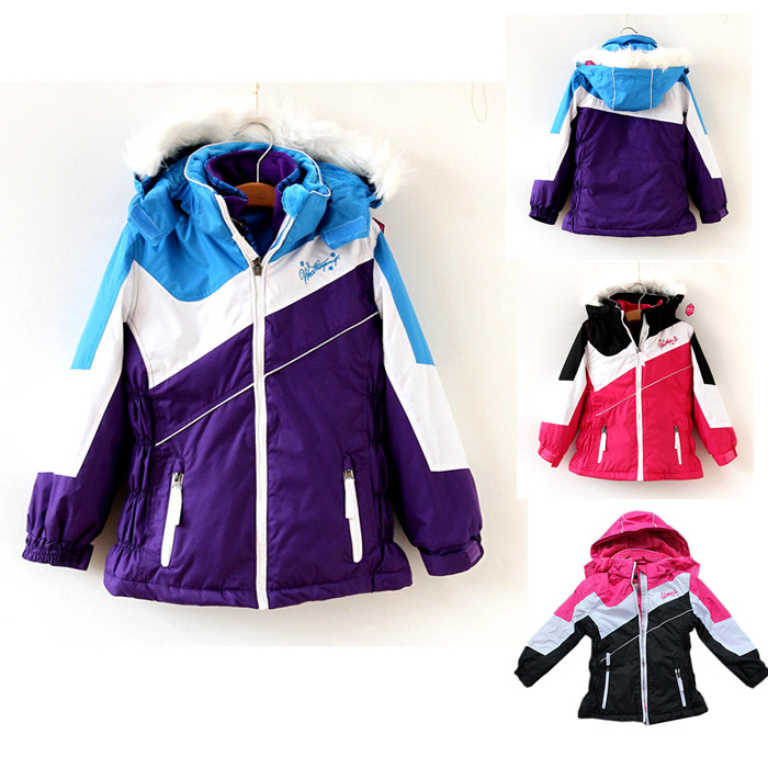 Child thickening drawing ski suit outdoor jacket twinset for skiing and outdoor jacket with a detachable liner(China (Mainland))
