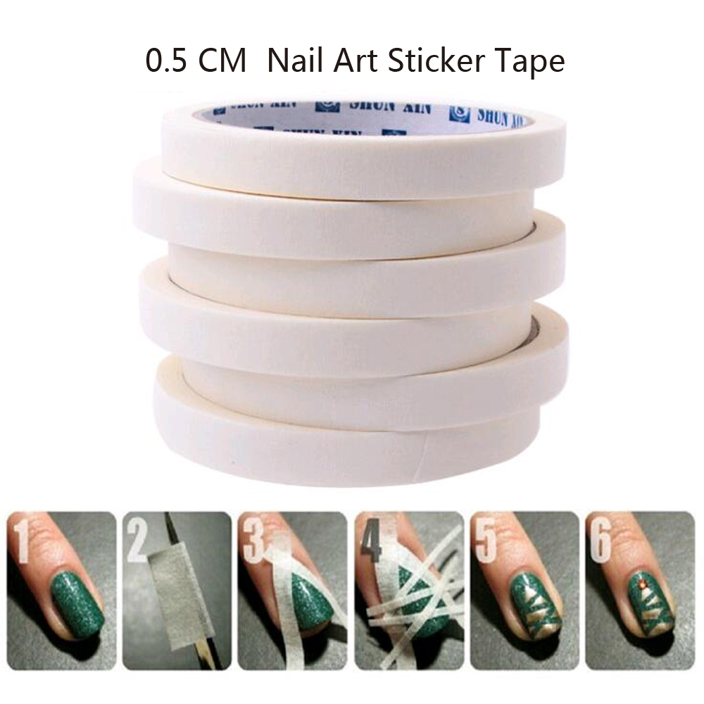 1PCS 17m*0.5cm French Manicure Nail Art Tips Creative Nail Stickers Masking Tape Nail Accessories Nail Art Free shipping(China (Mainland))