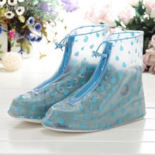 2016 PVC overshoes for men and women rain boots galoshes reusable shoe covers summer dress waterproof wear directly washed(China (Mainland))