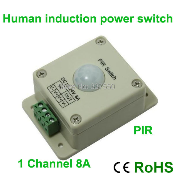 6pcs/lot LED PIR Switch light Human Body Induction Switch,DC12V/96W, DC24V/192W,led infrared detection sensor switch controller<br><br>Aliexpress