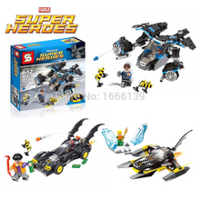 2016 New Superhero's ride block Helicopter Warplane block The Avengers minifigures Superhero Action Figure bricks toys children