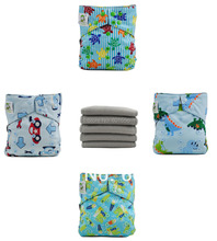 Reusable Diapers of 8 Coolababy Bamboo Charcoal Cloth Diapers Nappies 16 bamboo charcaol inserts Free shipping