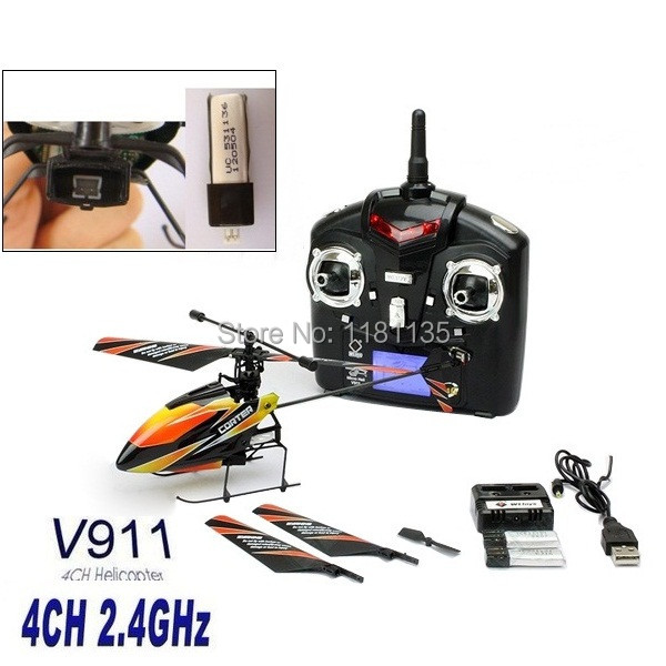 High Quality WLtoys Upgraded Version V911 4CH 2.4Ghz Single Blade Propeller Radio Remote Control RC Helicopter w/GYRO RTF Mode 2(China (Mainland))
