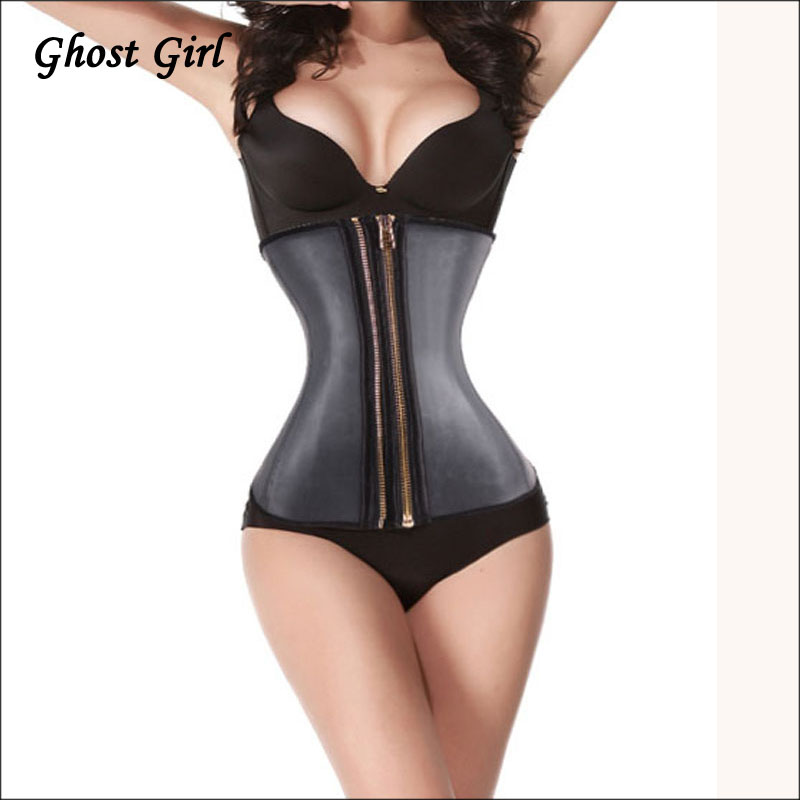 2015 Tv Hot Belt Stomach Shaper Latex Waist Cincher Latex Waist Training Corset Workout Waist Trainer Zipper Corset Steel GirdleОдежда и ак�е��уары<br><br><br>Aliexpress
