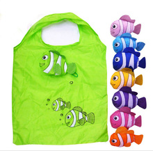 1pcs Fish Polyester Shopping Bag Foldable Bag Handle Bag in Many Colors Available Folding Bags