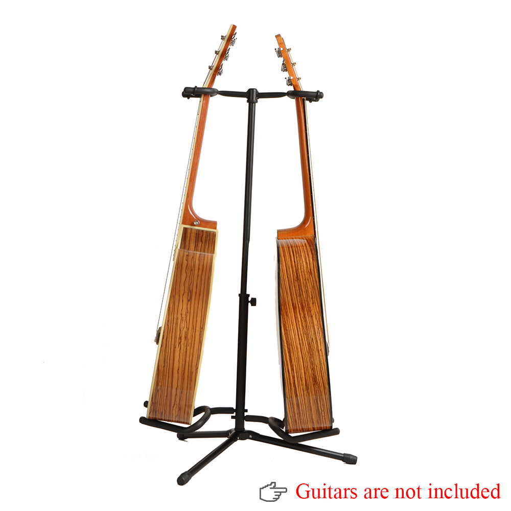 Double Guitar Stand Detachable Folding Adjustable Stand Holder for Acoustic Electric Guitar Bass Top Quality(China (Mainland))