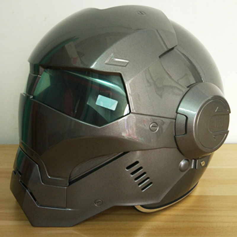 2016 Masei ABS Light gray Mens womens IRONMAN Iron Man helmet motorcycle helmet half helmet open face helmet casque motocross(China (Mainland))