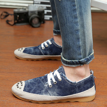 New spring and summer 2015 men s casual shoes breathable men shoes canvas flats loafer sneaker