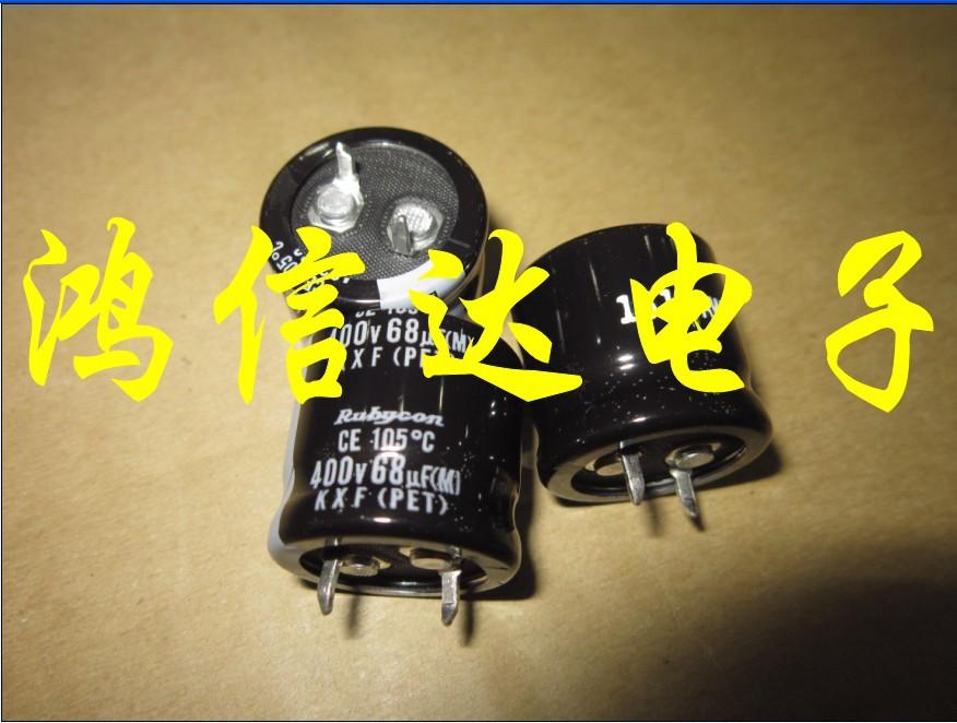 60pcs Electrolytic capacitors 400V68UF 22X20 Rubycon KXF Series 105 degrees free shipping
