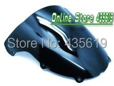 2003-2004 Kawasaki Ninja ZX6R 636 03-04 Windscreen Windshield Double Bubble ABS Black(China (Mainland))