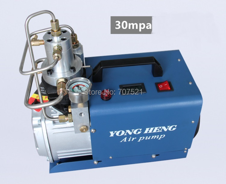 300BAR 30MPA 4500PSI PCP High Pressure Air Pump water cooled Electric mini Inflator Air Compressor 220V-240V 50HZ new style(China (Mainland))