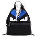 100 GENUINE LEATHER Brand Monster Leopard Grain Fox Fur Backpacks Designer Quality Luxury Bag Star Style