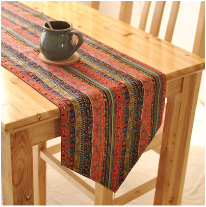 Table Runners Linen Printed Table Runner Striped Wedding Decoration For Home Hotel Banquet Hot Selling Many Different Sizes(China (Mainland))