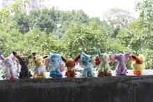 2015 Hot Japan 9Pcs/Lot Pokemon Plush Toy Pokemon Eevee Family Movies & TV Plush Toy Doll 9 Dolls Soft Stuffed Animals & Plush (China (Mainland))