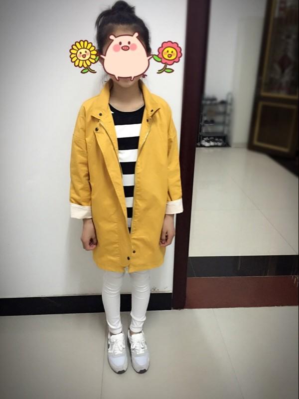 Скидки на Девочка ветрозащитный пальто средней длины весной и осенью ребенок траншеи верхняя одежда куртки
