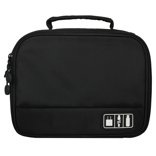 High Quality Multifunction Men's Travel Bag Storage Electronic Parts Casual Cosmetic bag Black Tote Storage Bag(China (Mainland))