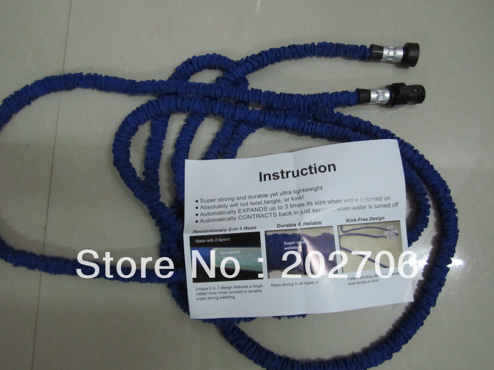 TV hot Expanding 25FT Magic hose pocket wather hose For Garden&Bathroom Free Shipping 100pcs/lot!(China (Mainland))