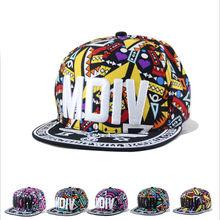 Brand New Graffiti Men Hip Hop Baseball Cap Flat-Brimmed Hat Women Snapback Embroidered gorras hombre