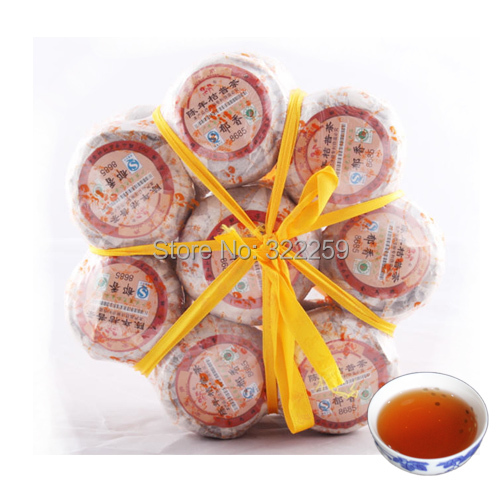 Гаджет  [DIDA TEA] YU XIANG * 8 pcs bunch Orange Puerh Puer Tea 8685 Orange Pu Erh tea with Orange Fragrance, Pu Er in Orange Mandarin None Еда