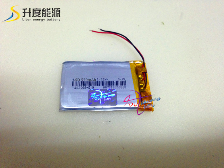 SD403048 403048 3.7v 600mah rechargeable battery pack for portable dvd player have in stock(China (Mainland))
