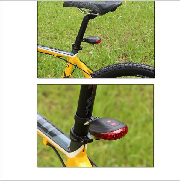 Waterproof Bicycle light Laser Tail Bike Safety Red Rear Warning Light Cycling Safety Caution Lamp 2