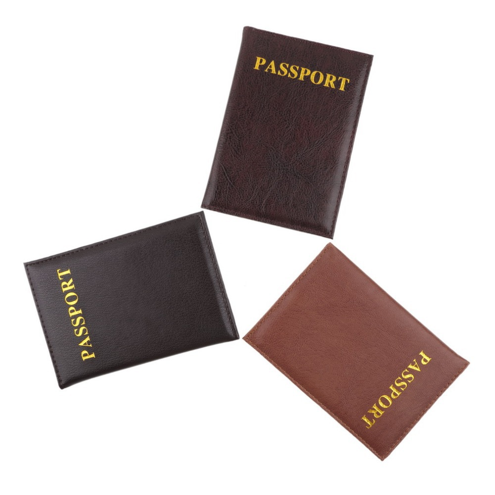 New High Quality Leather Women Passport Holder Women s Travel Passport Cover Unisex Card Case Man