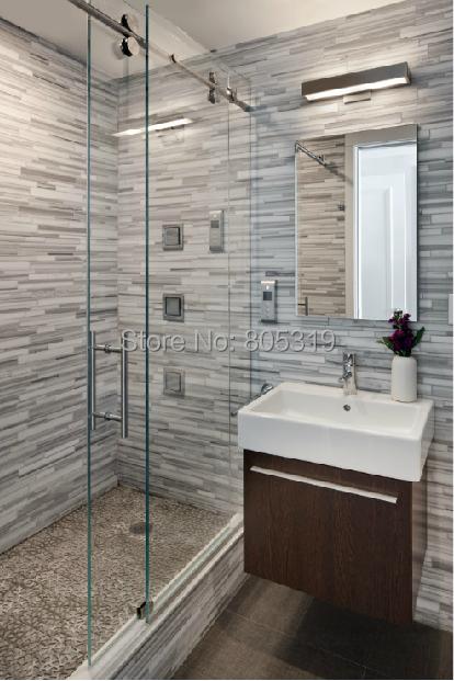 """60"""" Barn chrome sliding shower door hardware,frameless in-line shower door sliding track hardware(China (Mainland))"""