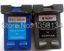 Free shipping,6 pcs/lot,First hand and High quality Remanufactured ink cartridge for hp 21/22 C9351AN/C9352AN<br><br>Aliexpress