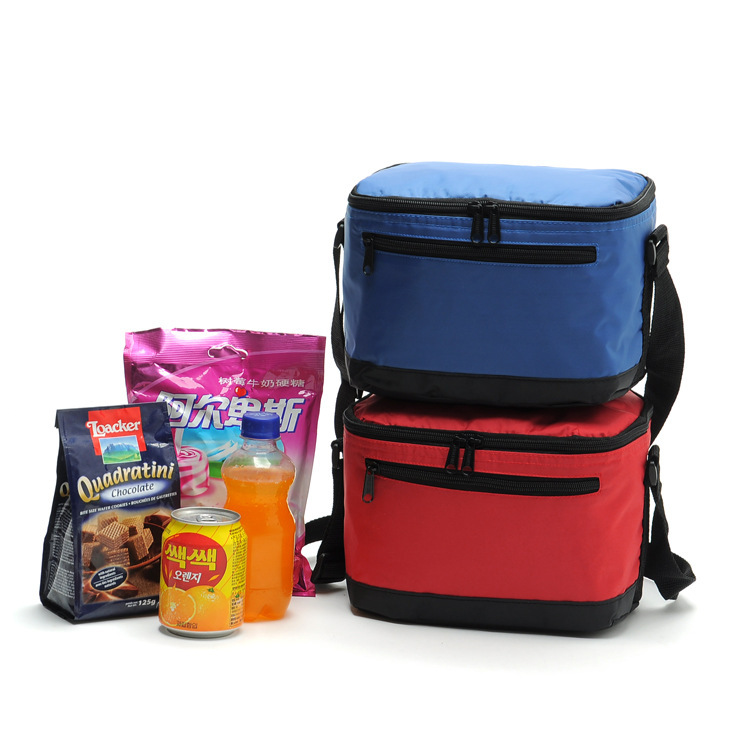 High quality nylon PVC thermal picnic cooler bags food storage lunch handbag insulated cool shoulder ice bag thermo lunch box