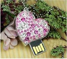Buy USB key pendant necklace U disk 32 GB exquisite gift diamond crystal sweetheart memory stick for $8.10 in AliExpress store