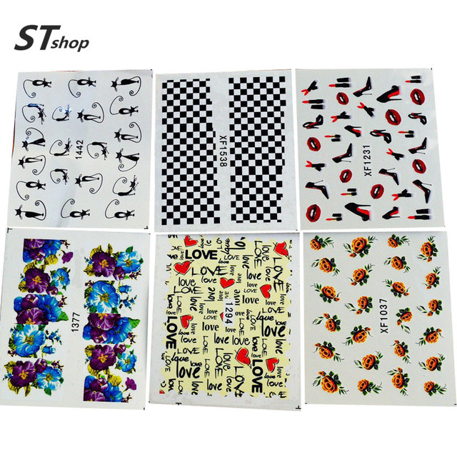 50 Sheets Mixed Design Water Transfer Nail Art Sticker