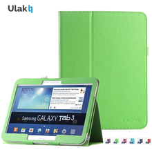 ULAK PU Leather Folio Case – Slim Lightweight Stand Cover with Auto Sleep/Wake Feature for Samsung Galaxy Tab 3 10.1 P5200