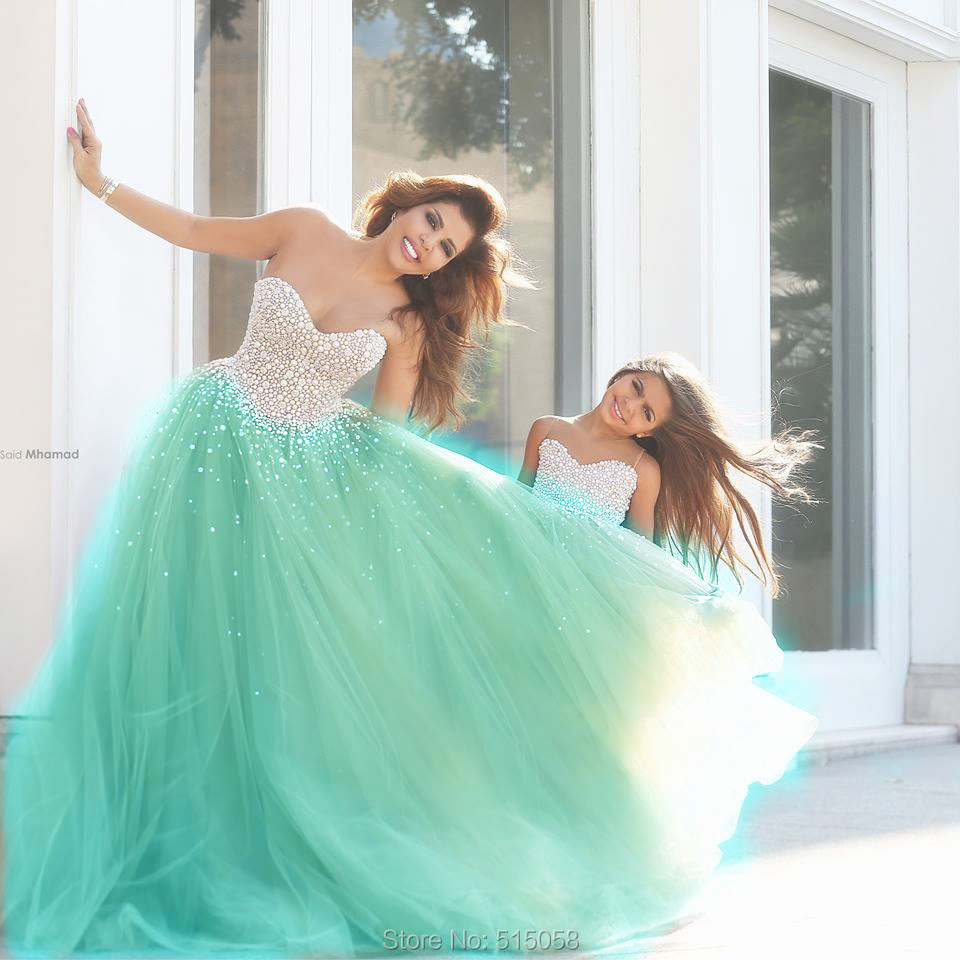 mint beaded party/prom/evening/pageant/cocktail dress/ball gown ...