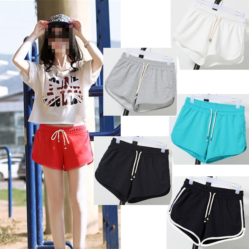 JSEO-2016 Cotton Shorts Female Summer Casual Shorts Sports Jogging Solid Drawstring Shorts Candy Color Free Size(China (Mainland))