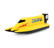 2.4G Radio RC Racing Boat with Dual Propellers High Speed Electric Power Yacht(yellow)(China (Mainland))